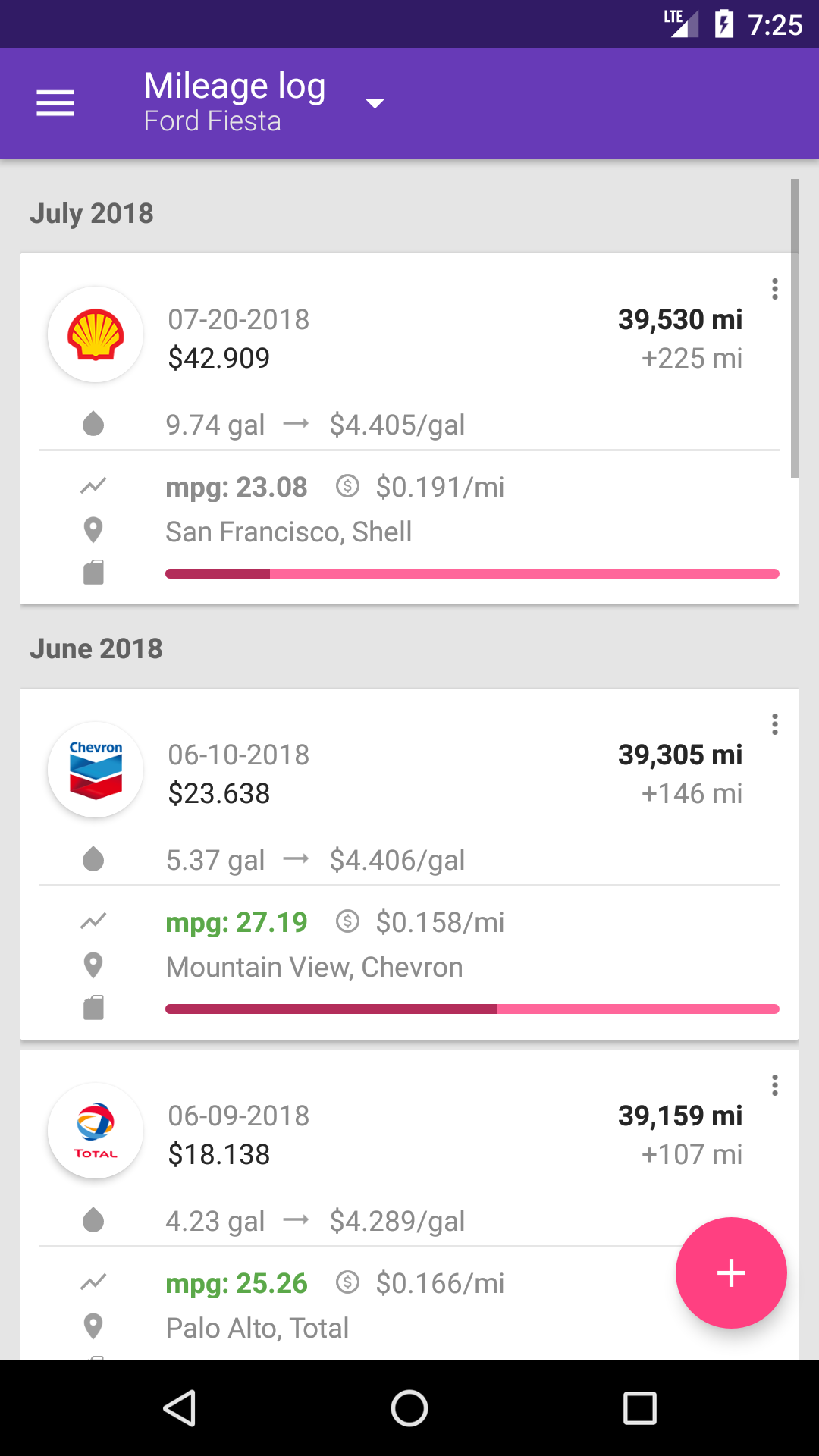 fuelio fuel log mileage and costs tracker for android