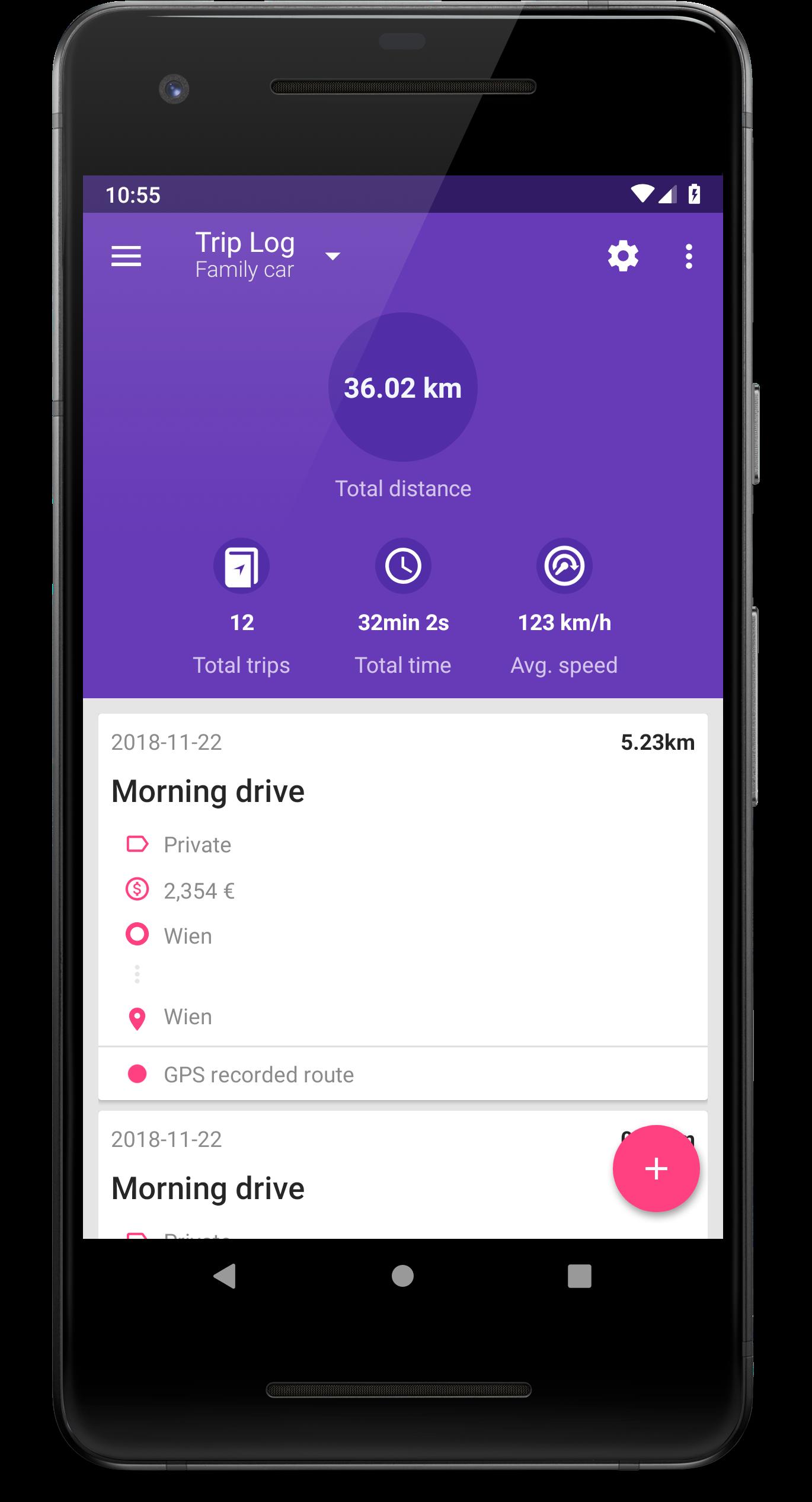 fuelio trip log gps mileage tracker